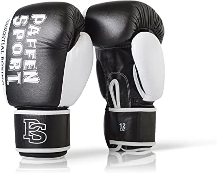 14 16 oz Boxing Gloves for Training Punching Sparring Punching Bag Boxing Bag Gloves Punch Bag Mitts Muay Thai Kickboxing MMA Martial Arts Workout Gloves GoMax Leather Boxing Gloves 6 8 12 10
