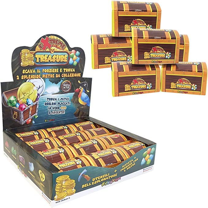 Sbabam- Pack de 5 Cajas de cartón para Encontrar el Tesoro, 131-18: Amazon.es: Juguetes y juegos