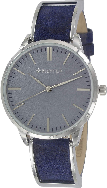 Reloj Bilyfer para Mujer con Correa en Azul y Pantalla en Azul 1F629-AZ