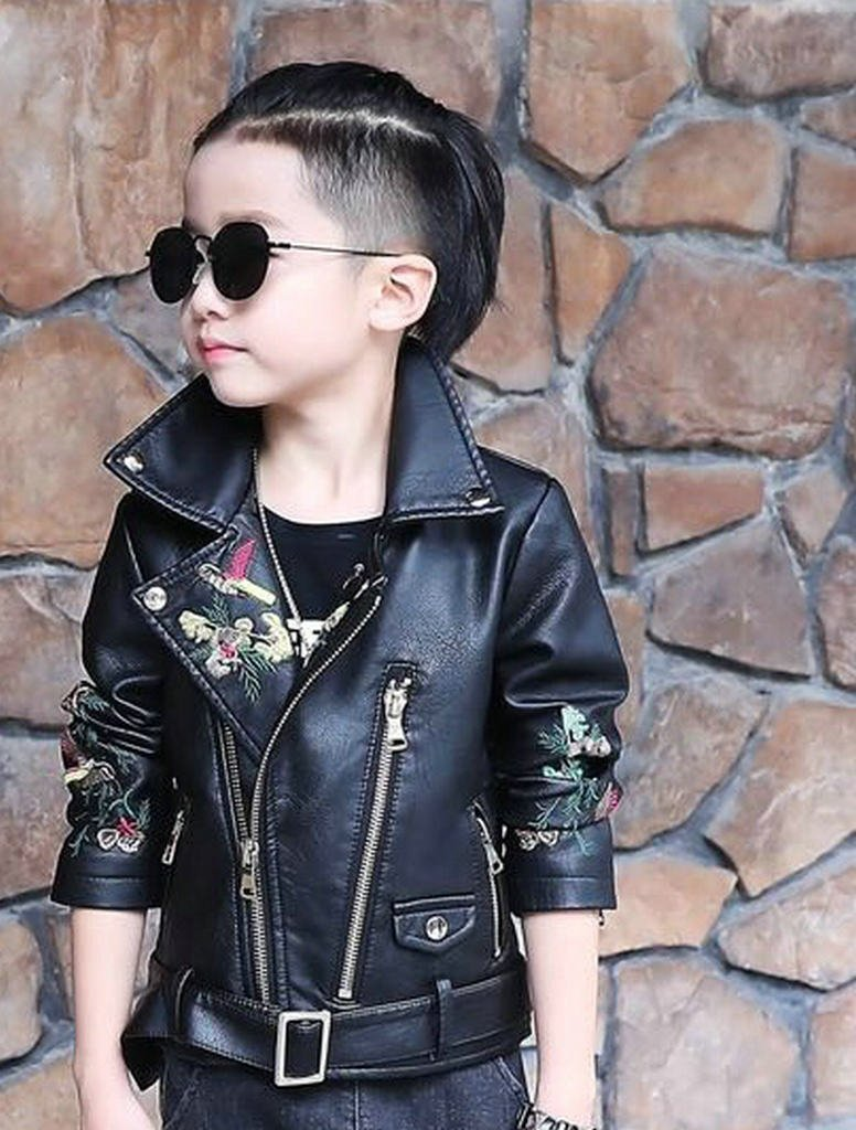 The Twins Dream Girls Leather Jacket Kids Leather Jackets Boys Motorcycle Jacket Girls Coat by The Twins Dream