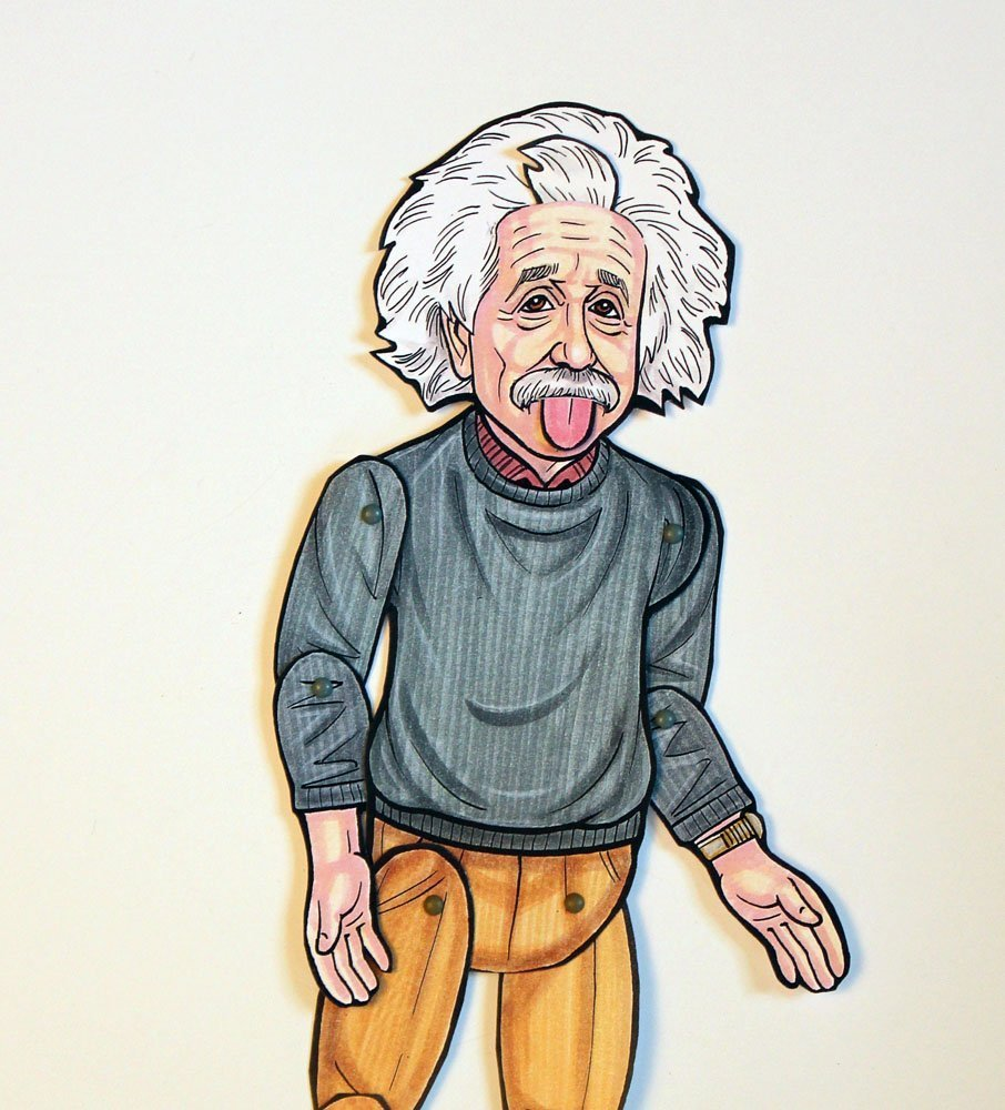 Albert Einstein Articulated Paper Doll