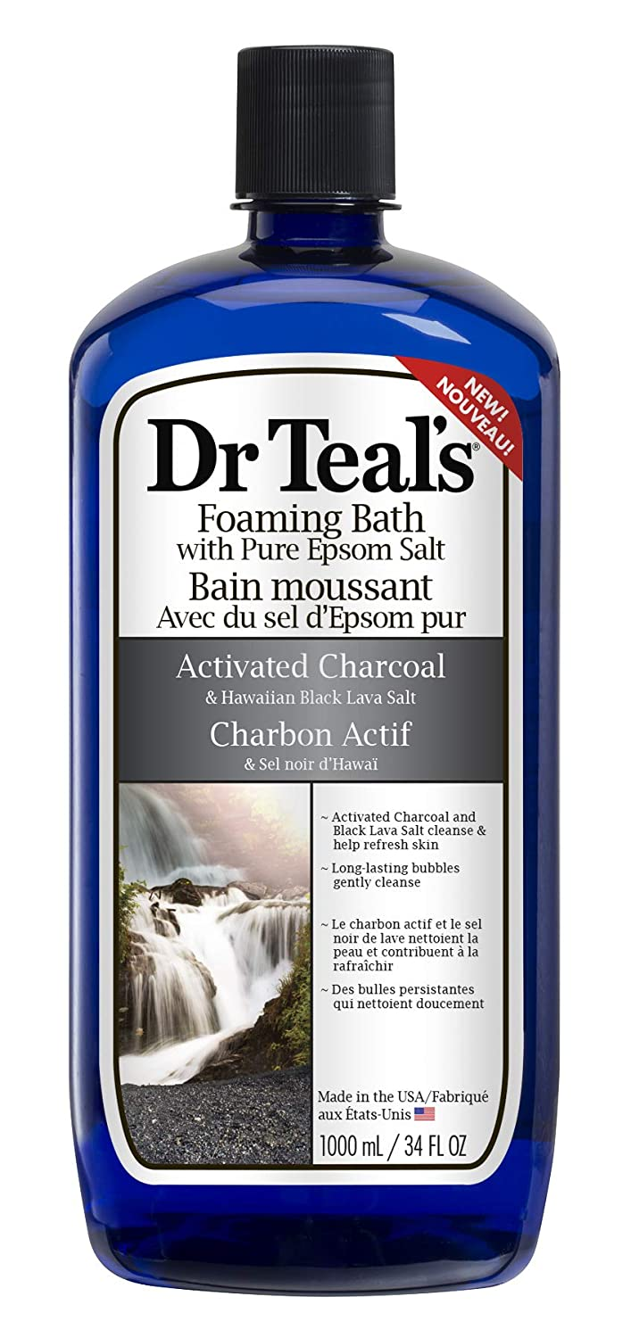 Dr Teal's Activated Charcoal Foaming Bath, 1000 Milliliters PDC Brands