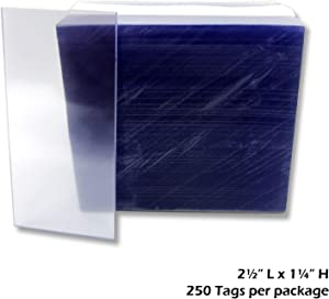"1.25x2.5"" Clear Plastic Tags, Shelf Label Holders - 1000 Pack"