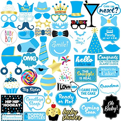 Boy Baby Shower Photo Props Amazon Ca Toys Games