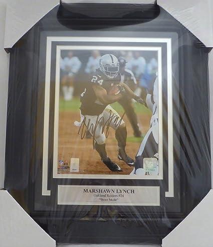 7062c774b Marshawn Lynch Autographed Framed 8x10 Photo Oakland Raiders ML Holo ...