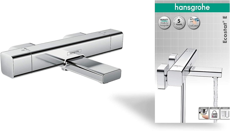 hansgrohe Ecostat E termostato de bañera visto cromo: Amazon.es ...