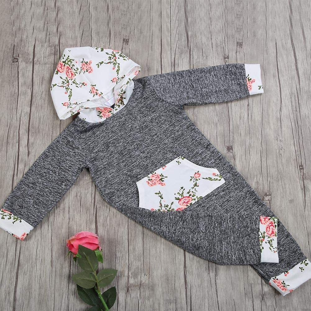 Floral Printing Cotton Soft Long Sleeve Bodysuit Children Clothes Baby Jumpsuit with Hoodie Baby Jumpsuit 90