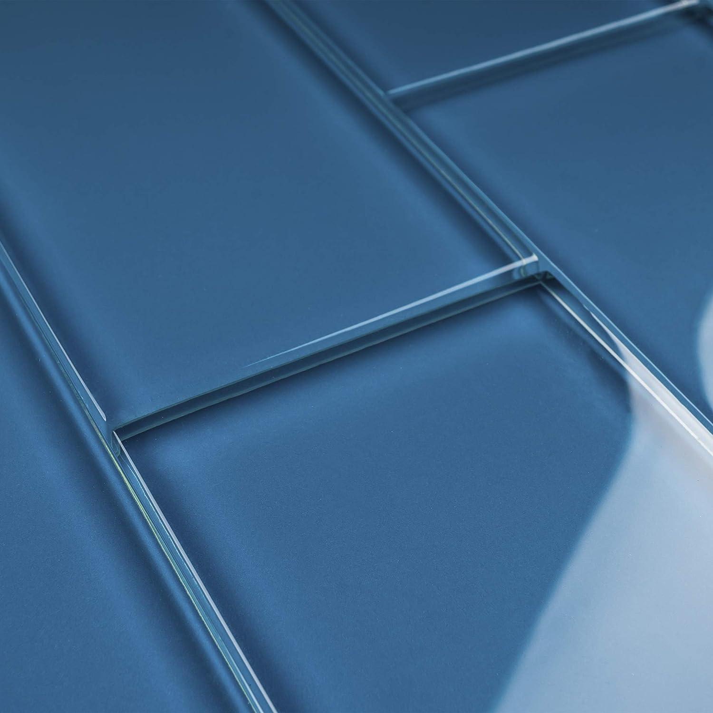 Tile Generation Tcsag 15 Turquoise Blue 3x6 Glass Subway Tile Kitchen And Bath Backsplash Wall Tile 1sqt Amazon Com