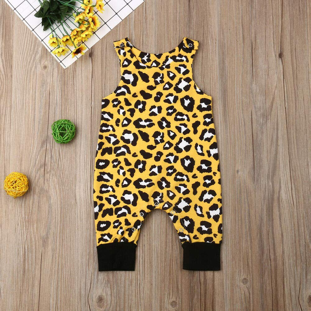 Genlei Summer Newborn Clothes Baby Boy Cartoon Dinosaur Sleeveless Romper Jumpsuit Bodysuit Outfits Animal Print 0-24M
