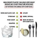 Aluf Plastics 12-16 Gallon Clear Trash Bags
