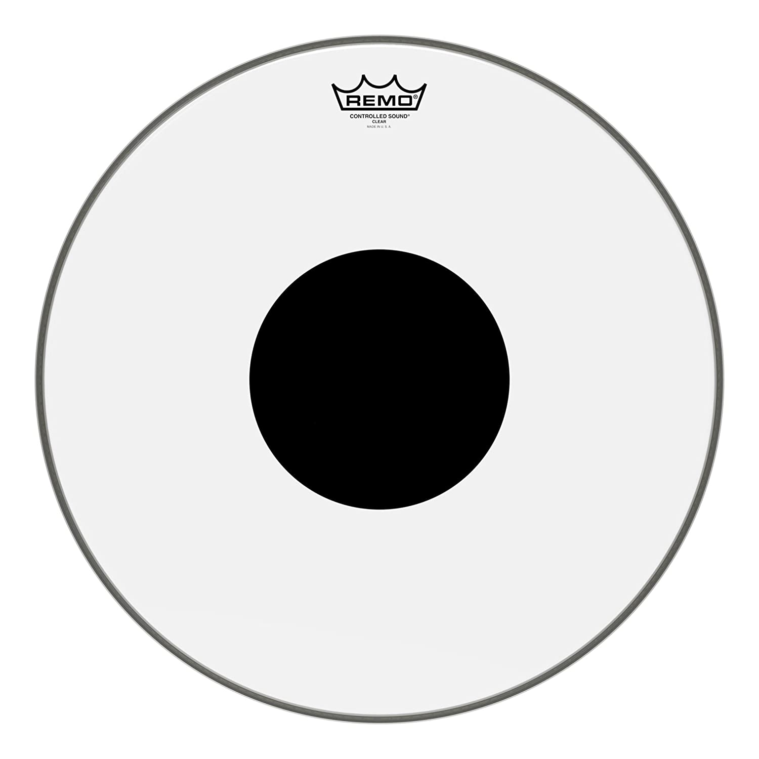 Remo Controlled Sound Clear Drum Head with Black Dot - 18 Inch 71Ro0-QCgBL