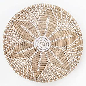 143 HEMBUK Multi-use Natural Seagrass Baskets | Handmade Woven Fruit Basket | Boho Decor Wall Hanging Basket | Decorative Bowl | Home Gifts for Friends and Family (Large)
