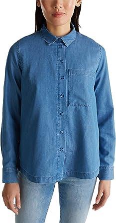 Esprit - Camisa vaquera con lyocell Azul lavado medio. XXL ...
