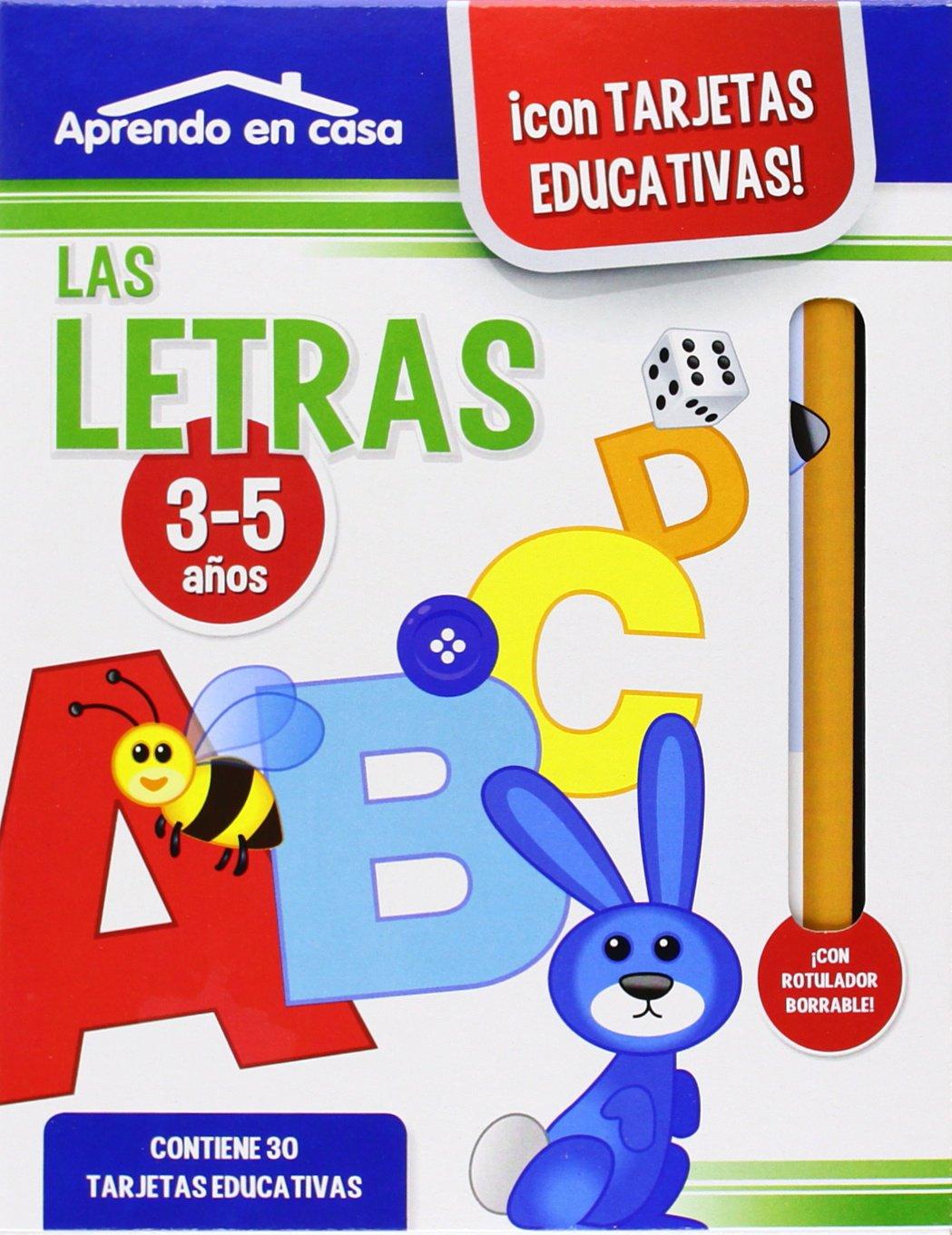 Aprendo en casa con tarjetas educativas: las letras: VV.AA ...