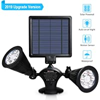 Opernee Motion Sensor 12-LED Waterproof Solar Outdoor Security Lights