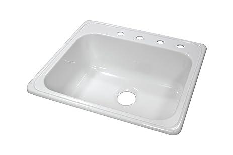lyons industries dks01x4 white 25 inch by 22 inch single bowl acrylic 9  lyons industries dks01x4 white 25 inch by 22 inch single bowl      rh   amazon com