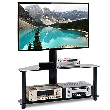 RFIVER Soporte TV Giratorio de Suelo de 32 a 55 Pulgadas con 2 Estante TW1001: Amazon.es: Electrónica