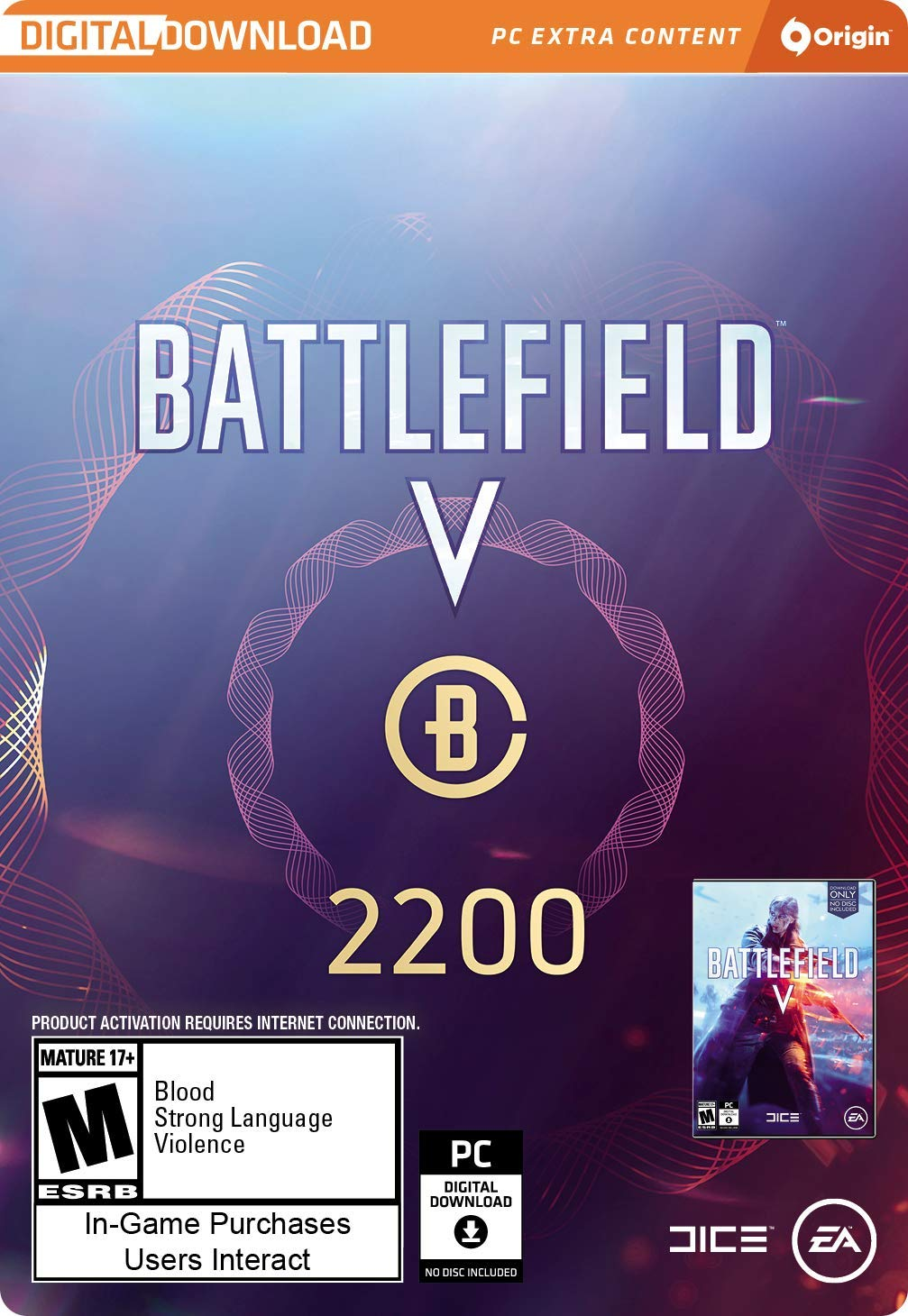 Battlefield V - Battlefield Currency 2200 [Online Game Code] by Electronic Arts