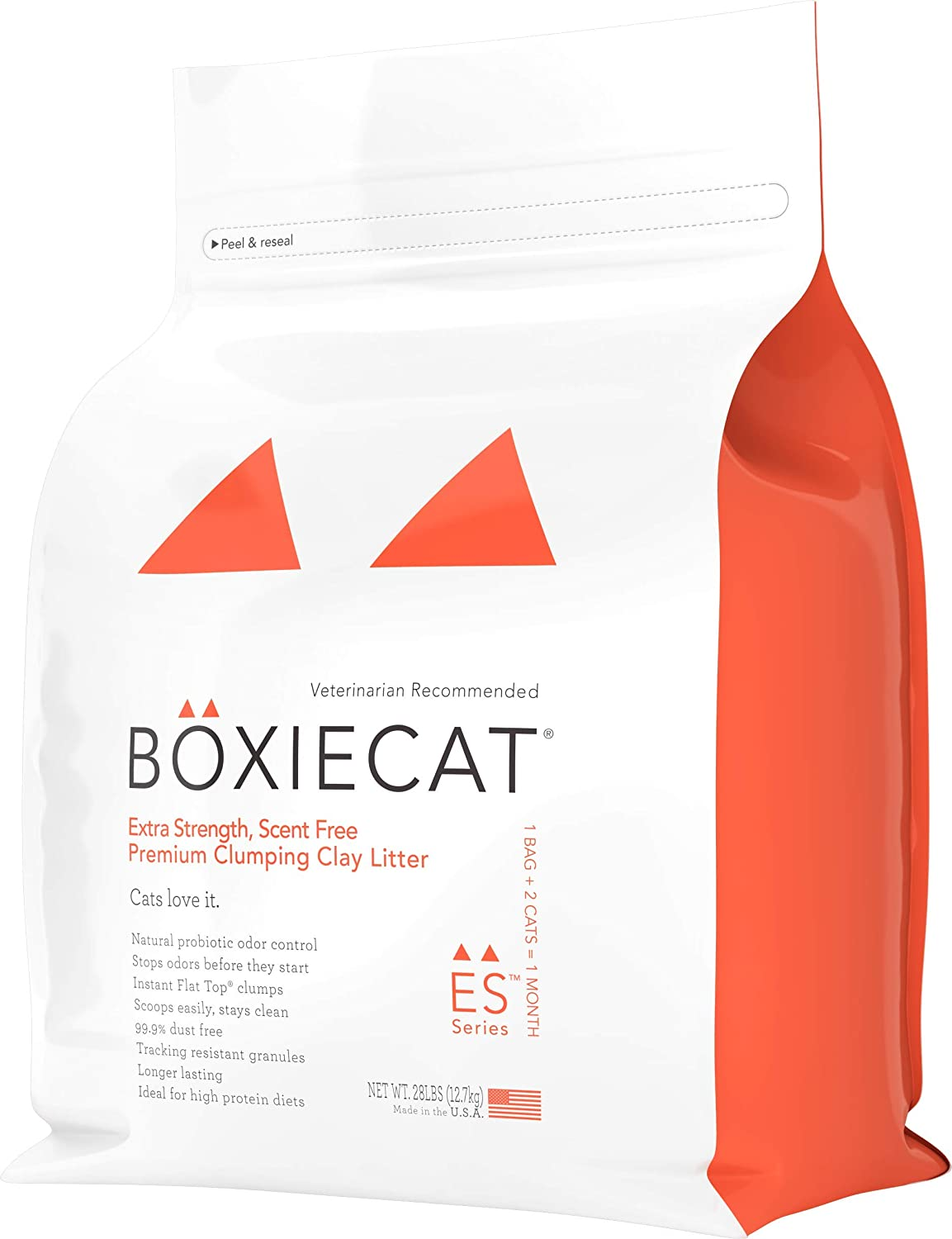 Boxiecat Extra Strength Premium Clumping Cat Litter - Scent Free Multicat - Ultra Clean Litter Box Formulas With Probiotic Powered Odor Control, Hard Clumping Litter, 99.9% Dust Free