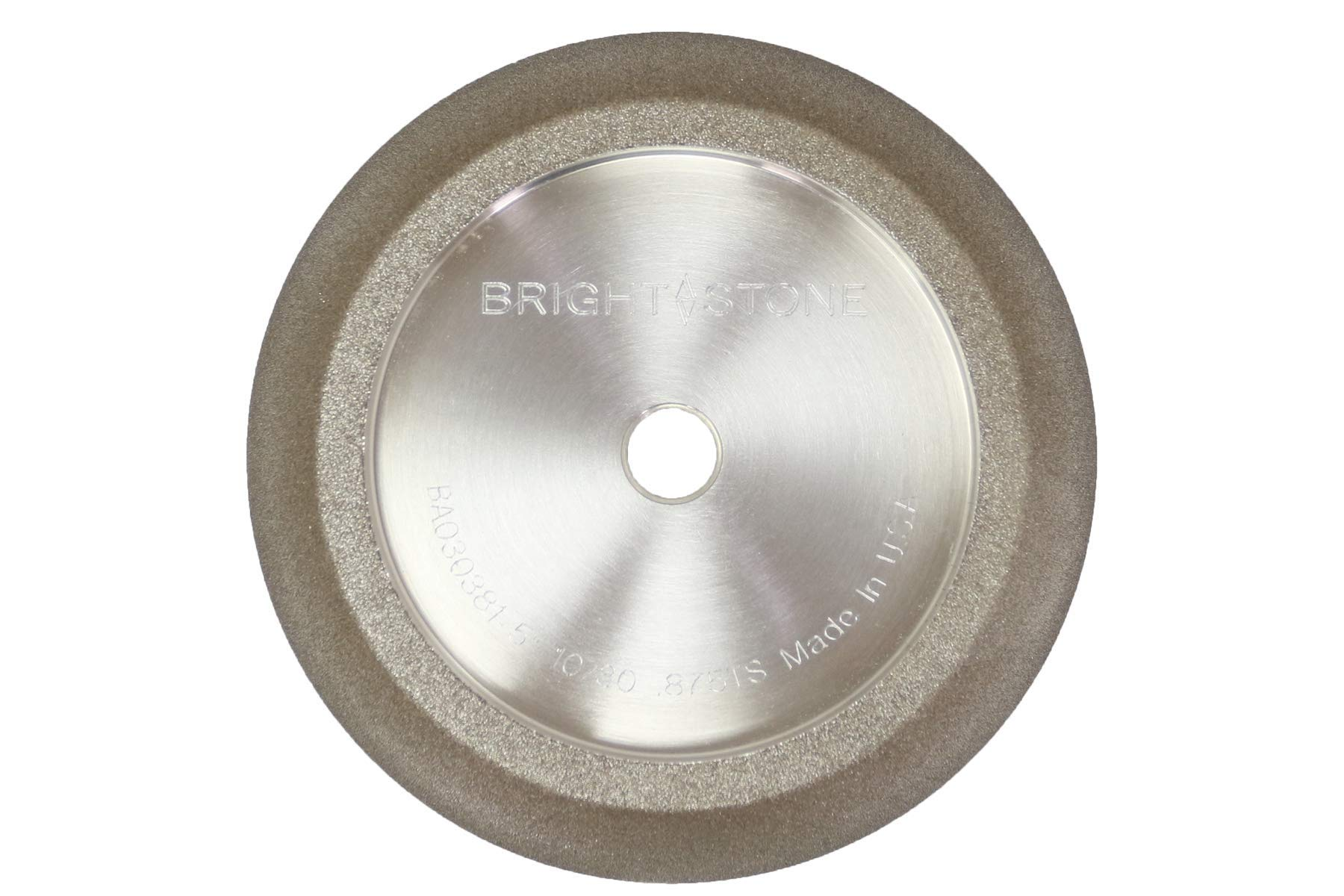 BrightStone 5 Inch CBN Grinding Wheel, 10/30 Angle, 3/4'' Tooth Spacing