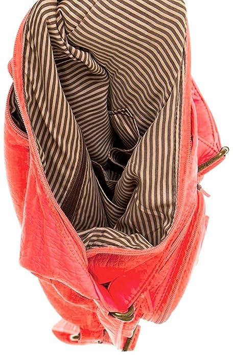 Ampere Creations Convertible bolso - Mochila y bolsa de hombro en suave piel vegana, Marrón (Marrón claro), Medium: Amazon.es: Zapatos y complementos