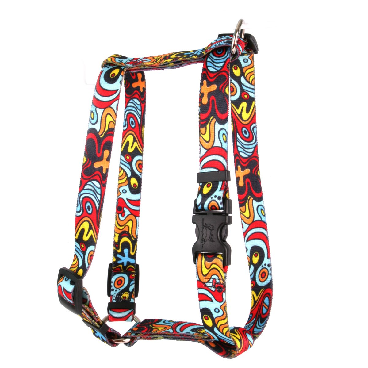Yellow Dog Design Abstract Roman Style H Dog Harness, Large