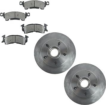 Front Disc Rotor /& Brake Pad Set Kit for Chevrolet Pontiac GM New