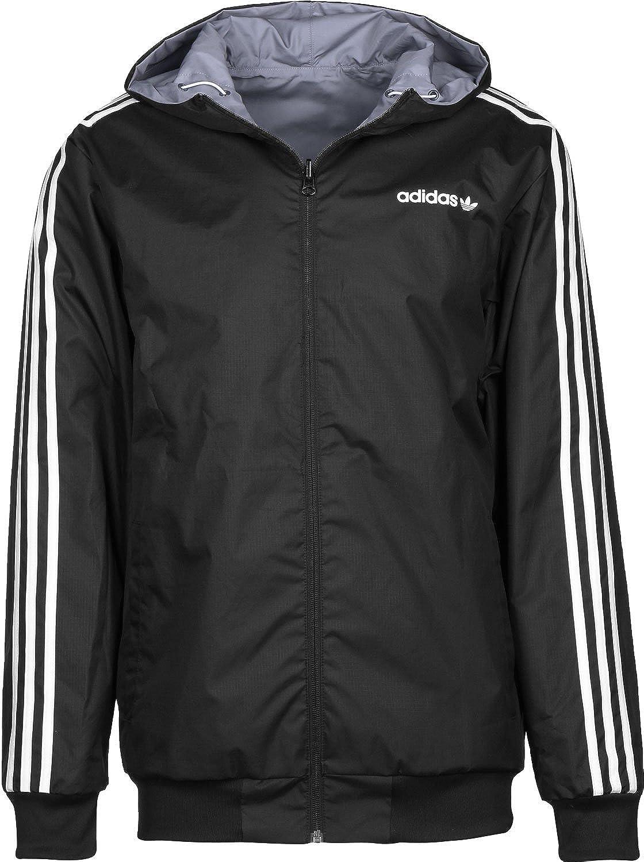 5011157aba0 adidas Itasca Reversible Chaqueta cortavientos grey black  Amazon.es   Deportes y aire libre
