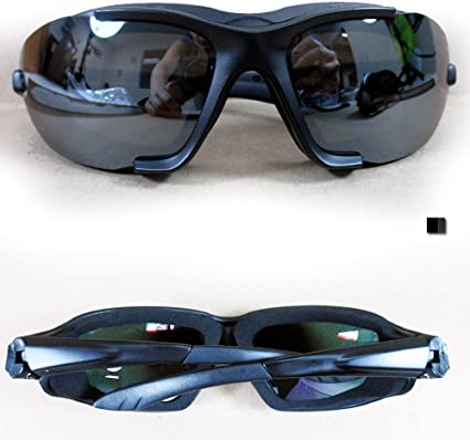 BLACK Outdoor Wind Resistant Riding Sunglasses Glasses Padded Sports Motorcycle