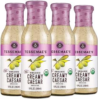 product image for Tessemae's Organic Creamy Caesar Dressing, Whole30 Certified, Keto Friendly, USDA Organic, 10 fl oz. bottles (4-Pack)