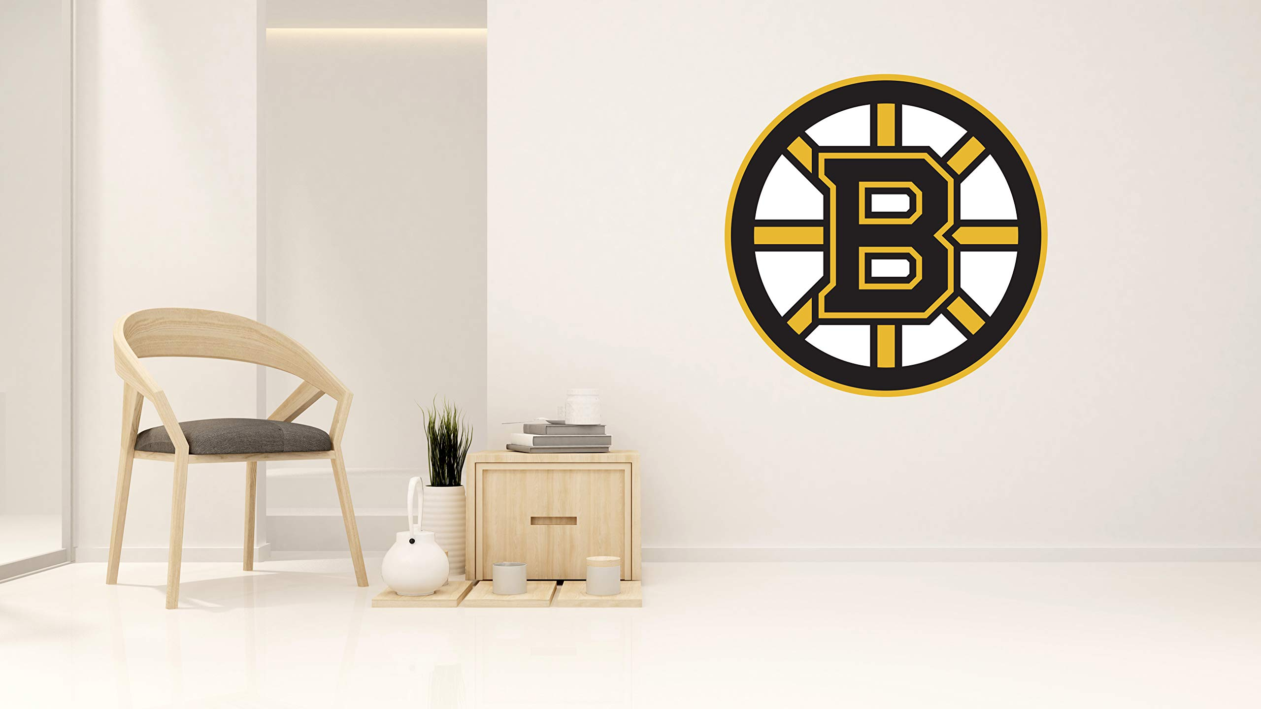 Hockey Team BB Logo - Wall Decal for Home Bedroom Hall Decoration (Wide 30''x30'' Height Inches)