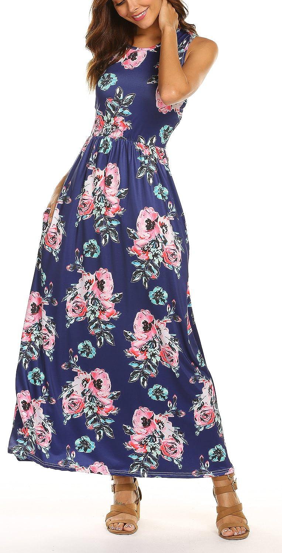Cdark bluee POGTMM Women's Short Sleeve Solid Loose Asymmetrical Hem Casual TShirts Tunic Dress