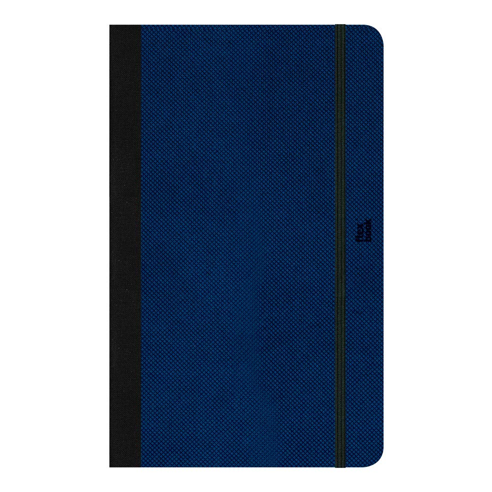 Flexbook Adventure Notebook, 5X8.25 inches, 85 GMS, 192 Ivory Dotted Pages, Royal Blue (60.00070) by PRAT Flexbook