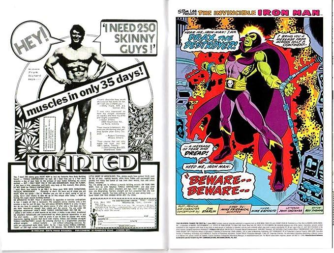 The Invincible Iron Man 55 Custom Made Cover w// 2018 REPRINT 1st Thanos