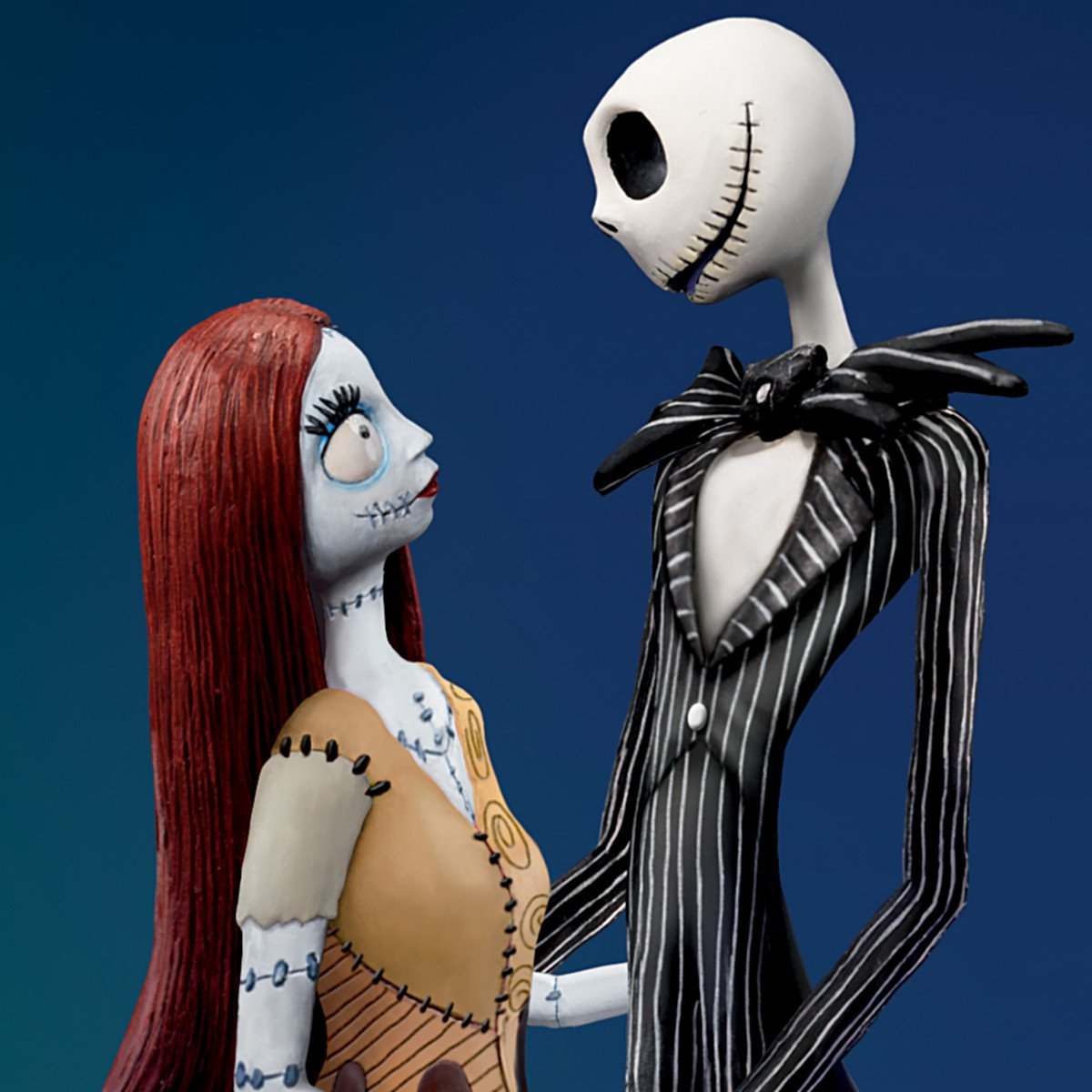 amazoncom the nightmare before christmas simply meant to be jack and sally musical figurine by the bradford exchange home kitchen - The Nightmare Before Christmas Jack And Sally