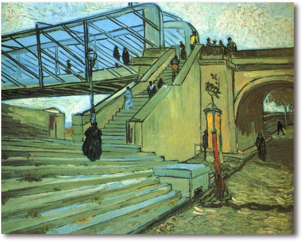 Cuadro Decoratt: Escalera del puente de Trinquetaille - Van Gogh 95x75cm. Cuadro de impresión directa.: Amazon.es: Hogar