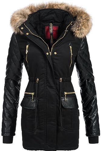 Navahoo Sara abrigo con capucha de piel sintética de gran tamaño, para Mujer, invierno WK4