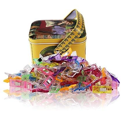 Wonder Clips-Packung mit 100 Pieces, Zubehör zum Nähen, Quilten, Häkeln, Basteln und Stricken