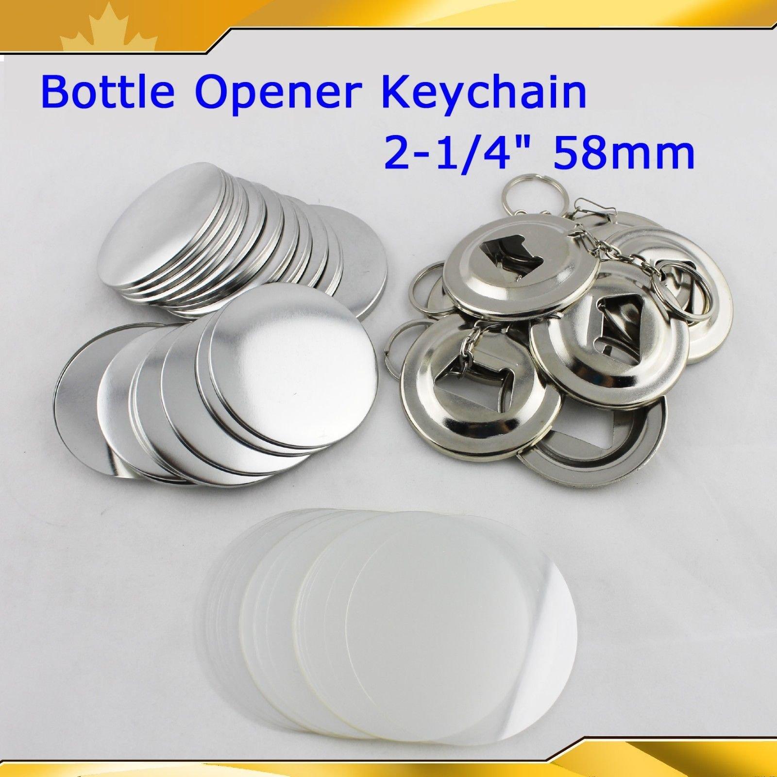 Bottle Opener Keychain 58mm 2-1/4'' Parts 100set Supplies for Pro Maker Machine