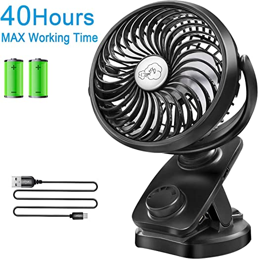 Portable USB Rechargeable Battery Oscillating Clip On Desk Electric Fan Hot