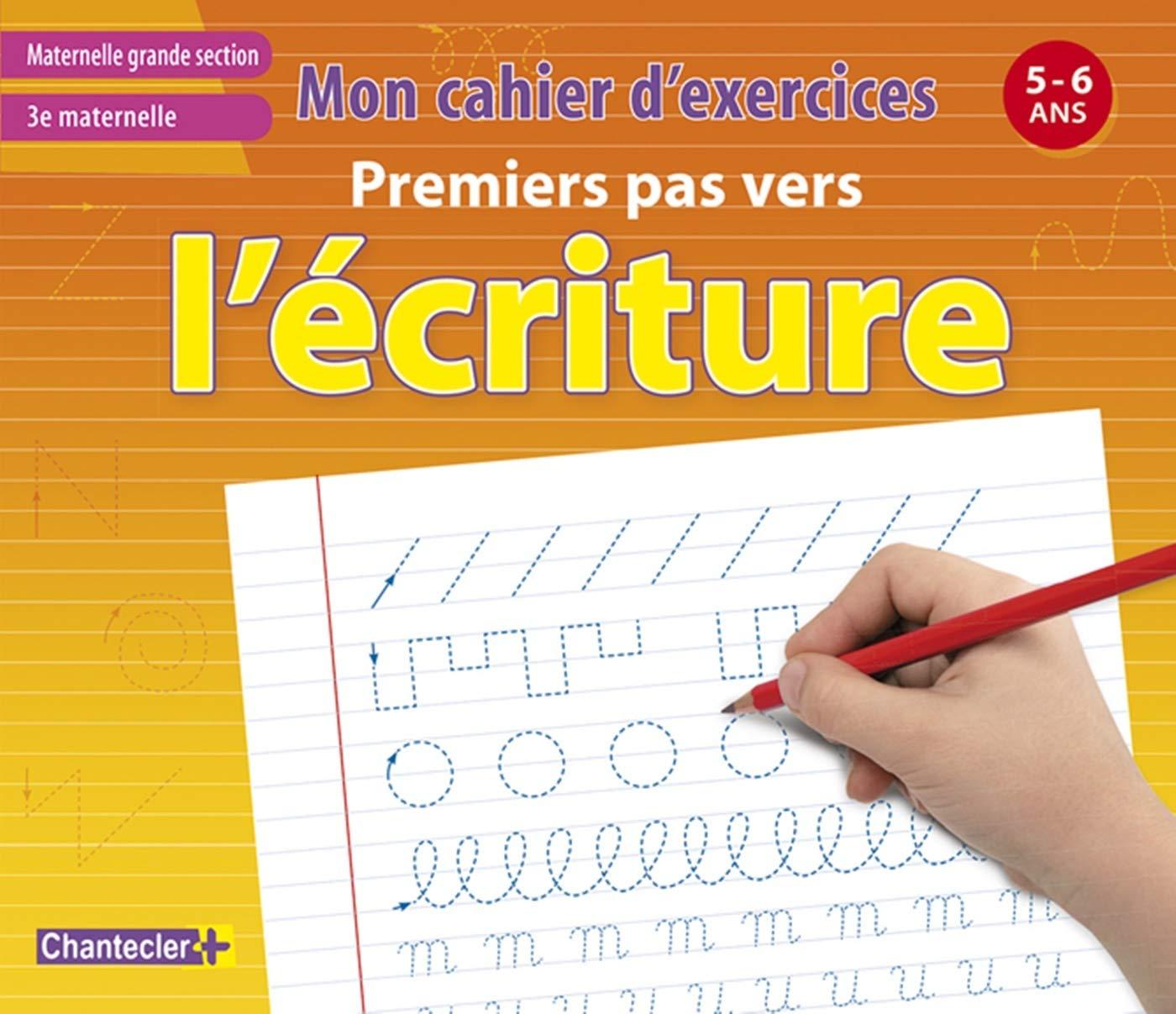 Amazon Fr Mon Cahier D Exercices Premiers Pas Vers L Ecriture 5 6 A 3e Maternelle Chantecler Livres