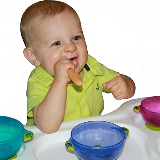 Baby Forceful Re-play Utensils 8pk Fda Approved Bpa Free Recycled Plastic Toodlers Cutlery Bowls & Plates