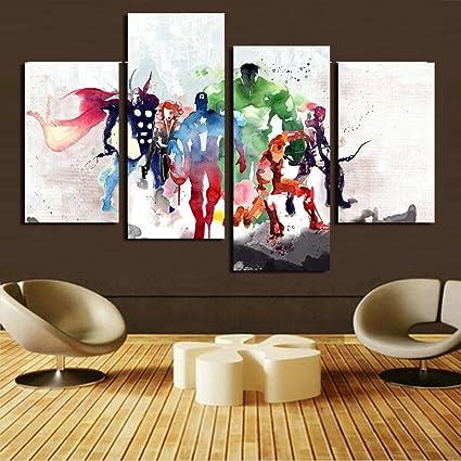 H.COZY 4 piezas Los Vengadores pinturas de arte moderno cuadro ...
