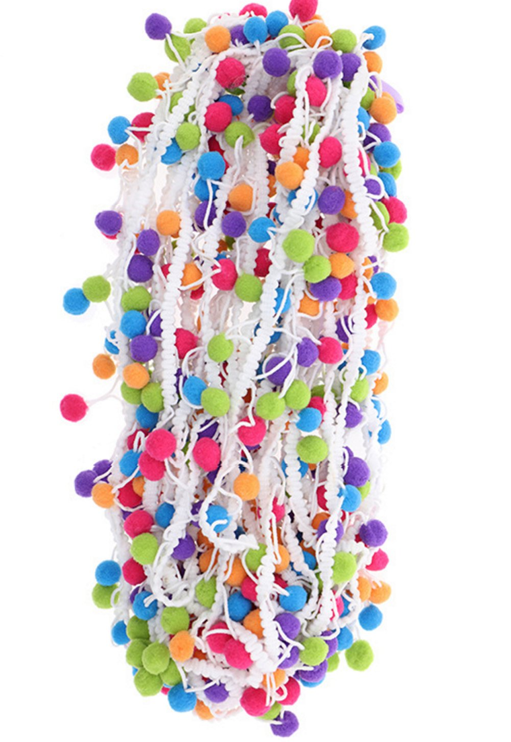 5 Yards YYCRAFT Rainbow Pom Pom Ball Fringe Trim Ribbon Sewing