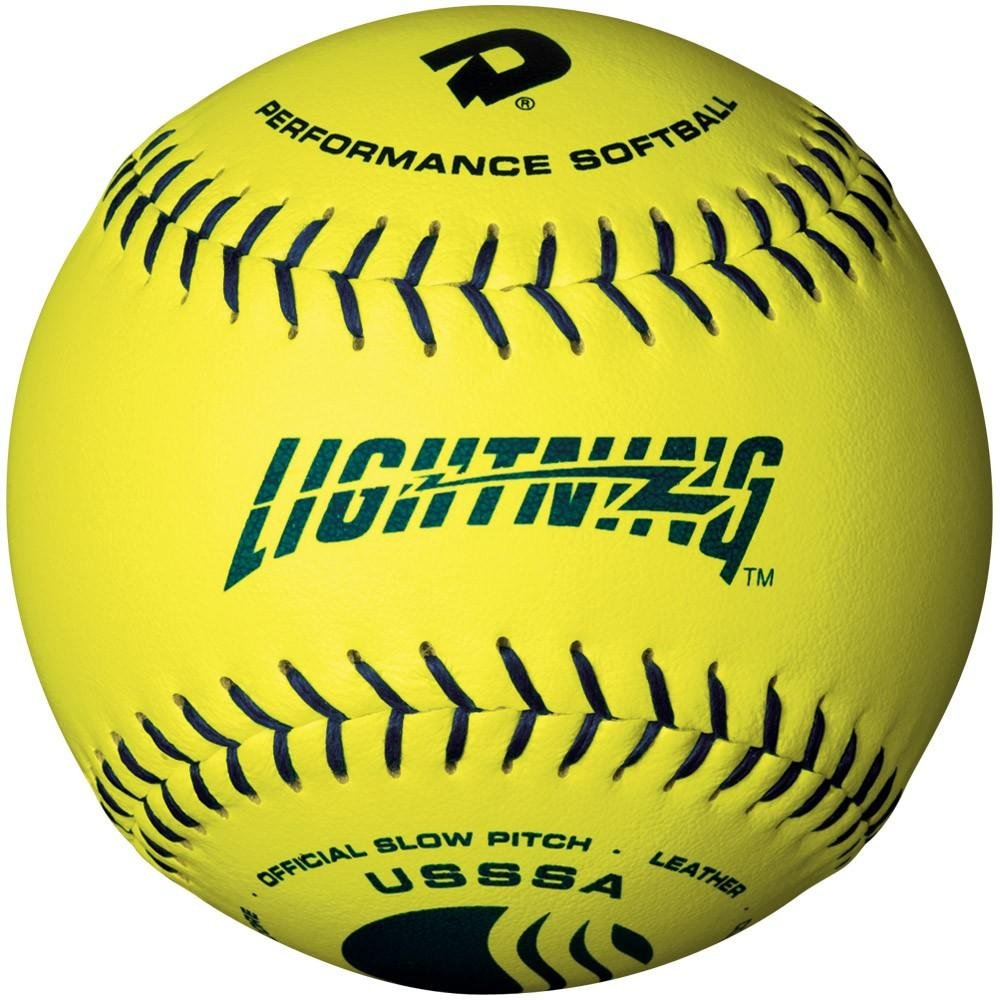 Wilson 12'' USSSA™ Optic Yellow™ Leather Men's Classic Lightning™ Softballs from Case of 3 Dozen