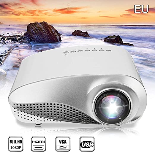 Harwls 3D Full HD 1080P Mini Proyector LED Multimedia Home Theater ...