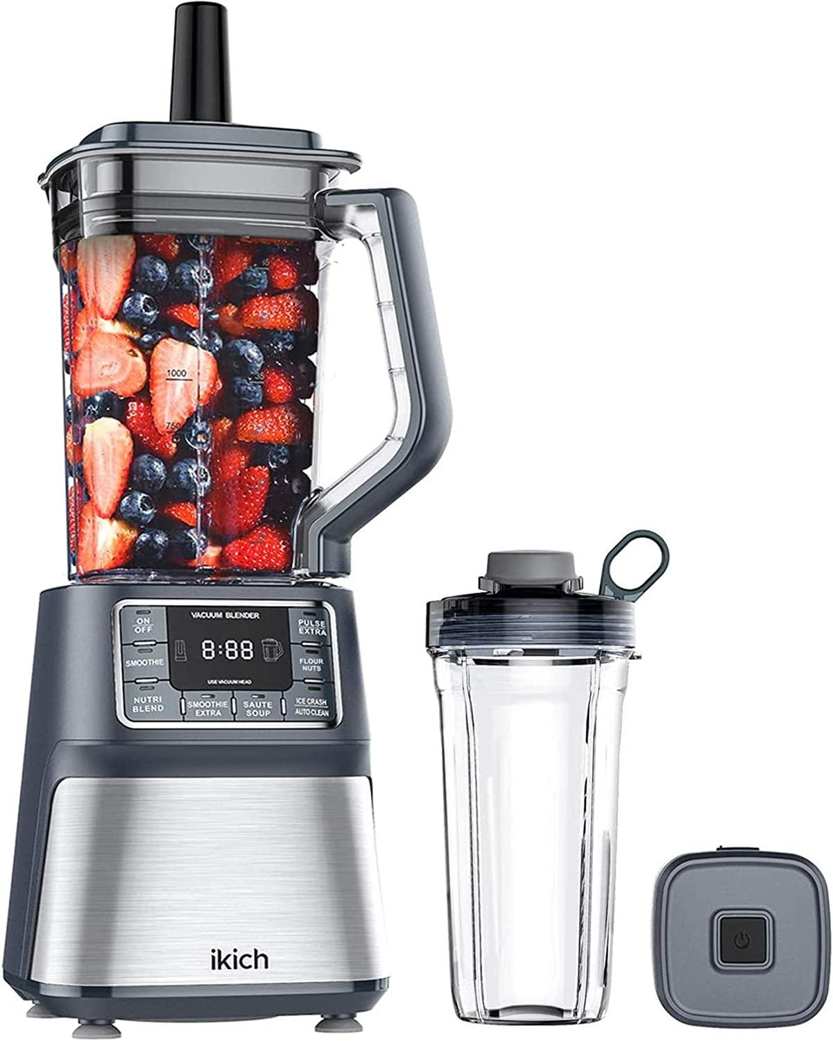 IKICH Vacuum Blender, Professional Countertop Blender Ice Crusher