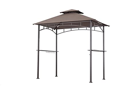 Sunjoy Replacement Canopy Set for Grill Gazebo LED L&s  sc 1 st  Amazon.com : replacement canopy for grill gazebo - memphite.com