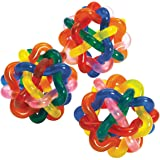 Colorful Intertwined Rubber Balls - Pack of 12