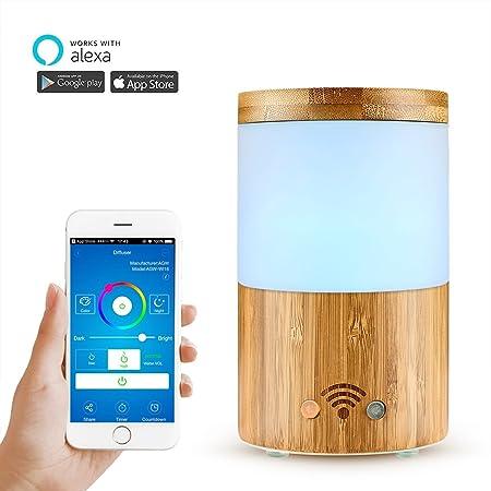 WiFi Smart Difusor de Aroma con APP Controlar, AOZBZ Natural de ...